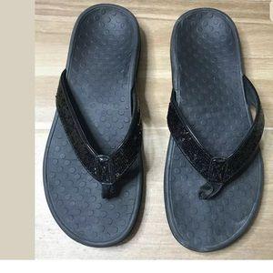 Vionic Women's Flip Flops Sandals - Black Size 41